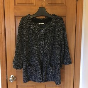 Black and white sweater, approx size 14